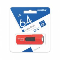 Флэш-диск Smart Buy 64GB USB 3.0 Stream красный