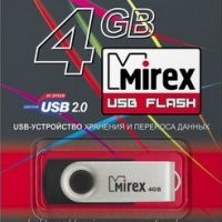 Флэш-диск Mirex 4GB Swivel черный