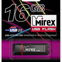 Флэш-диск Mirex 16GB Knight черный