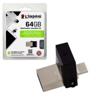 Флэш-диск Kingston 64GB USB 3.0 OTG Data Traveler MicroDuo (USB3.0/microUSB)