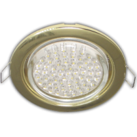 Ecola GX53  H4 Downlight without reflector_gold (светильник) 38х106 - 10 pack (кd102)