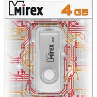 Флэш-диск Mirex 4GB Swivel белый