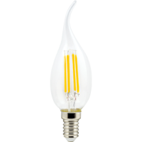 [] Ecola candle LED Premium 5W 220VE14 4000K 360°filament пр нитд св на вет(Ra 80,100Lm/W,КП=0) 125х37