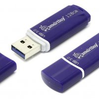 Флэш-диск SmartBuy 128GB USB 3.0 Crown синий
