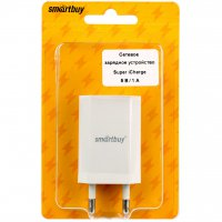 Адаптер 220В USB SmartBuy 9020 SuperiCharge 1A белый 1xBL