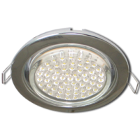 Ecola GX53  H4 Downlight without reflector_chrome (светильник) 38х106 - 10 pack  (кd102)